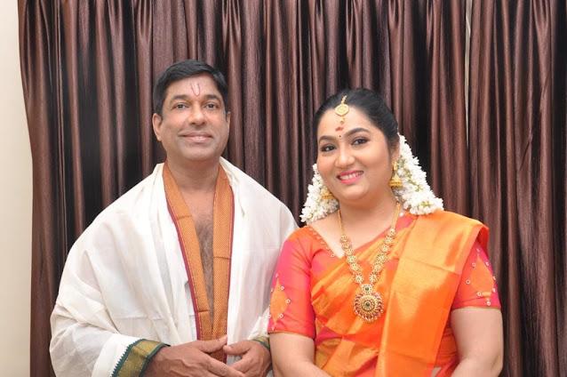 Actress Yamuna with her husband Devan