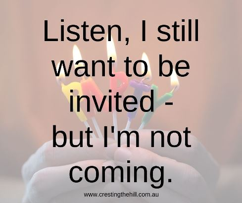 Listen, I still want to be invited - but I'm not coming #humorquotes #introvertquotes