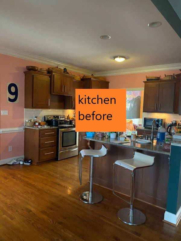 From Dark and Dreary To Bright and Cheery-Our Kitchen Reveal-kitchen before