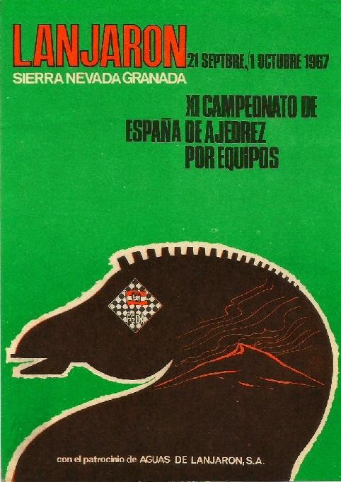 Cartel del XI Campeonato de España de Ajedrez por Equipos