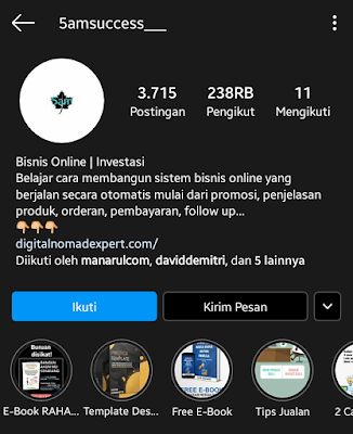 akun instagram tentang bisnis 5amsuccess___
