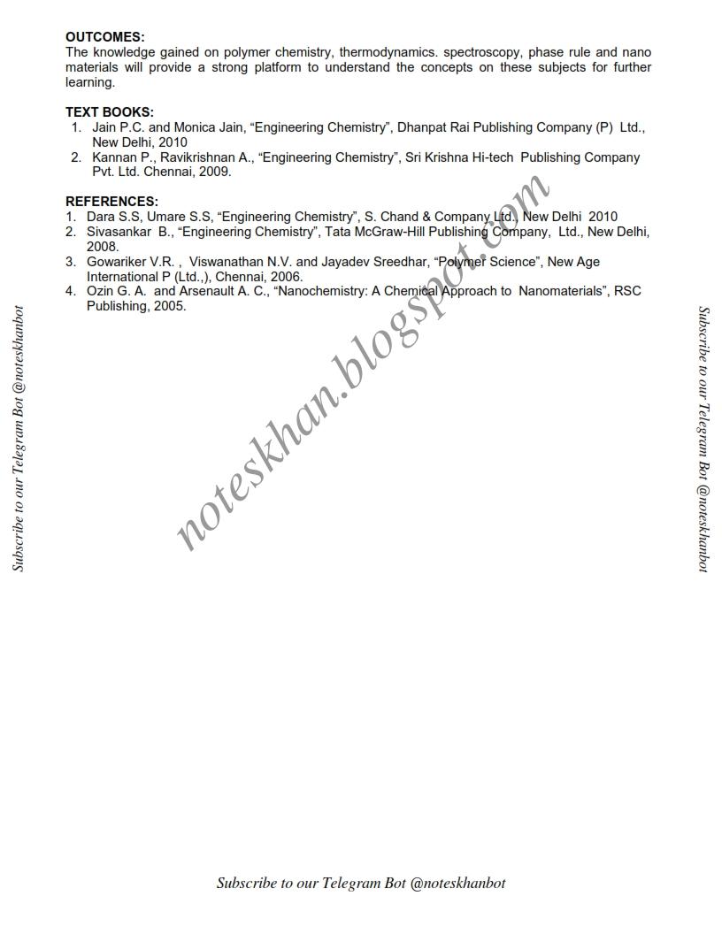 CY6151 Engineering Chemistry – I-Syllabus-Semester I-CSE-BE