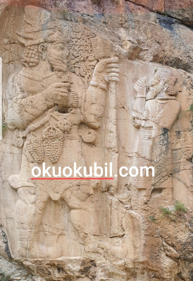 İvriz Kaya Kabartması Fırtına Tanrısı Tarhundas ve Kral Warpalawas