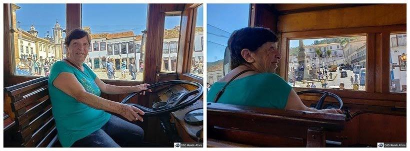 Mamis na condução da famosa jardineira - Passeio de jardineira em Ouro Preto, MG