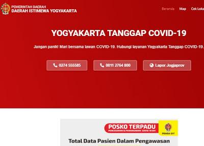 Website Resmi Info Corona Yogyakarta: https://corona.jogjaprov.go.id/