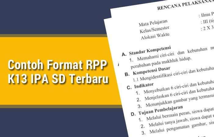 Contoh Format RPP K13 IPA SD Terbaru