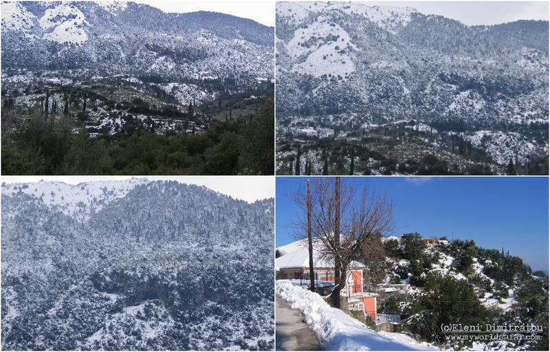 Χιονιάς 2006 Αινος Κεφαλονιά