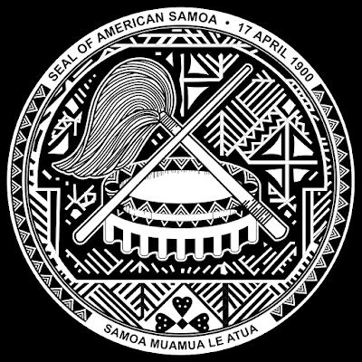 Coat of arms - Flags - Emblem - Logo Gambar Lambang, Simbol, Bendera Negara Samoa Amerika