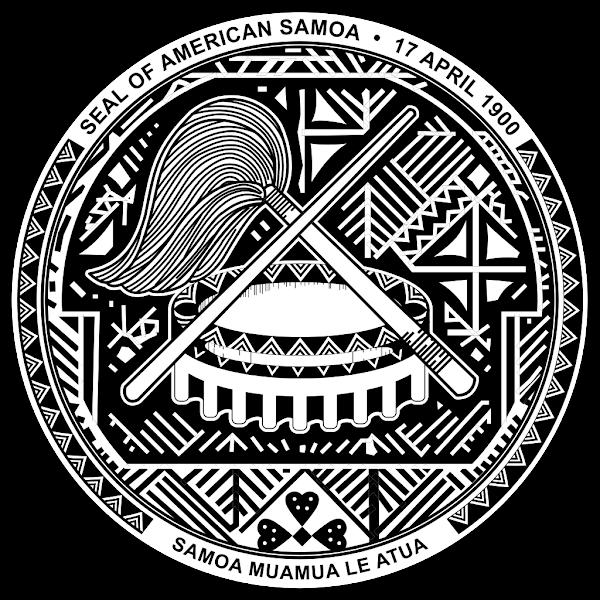 Logo Gambar Lambang Simbol Negara Samoa Amerika PNG JPG ukuran 600 px