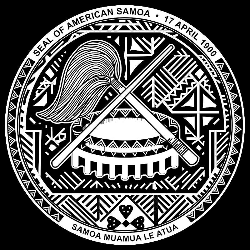 Logo Gambar Lambang Simbol Negara Samoa Amerika PNG JPG ukuran 800 px