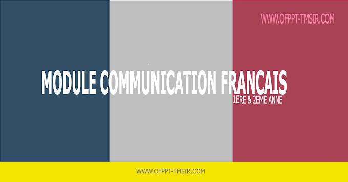 TMSIR OFPPT : Module Communication Francais
