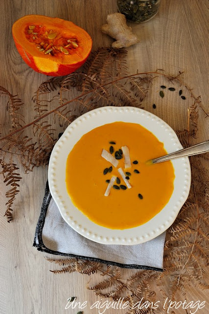 squash and sweet patatoes soup