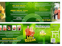Desain Undangan Pernikahan Hijau Keren (Undangan Ida & Rozak)