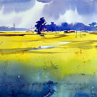 A water colour painting by Sadhu Aliyur