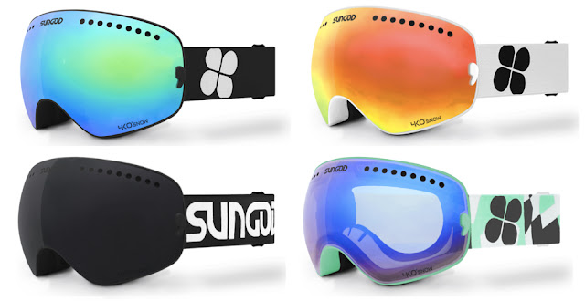 Customise your own pair of Sungod Revolts ski goggles