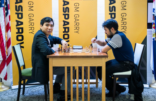 Les grands maîtres américains Wesley So et Hikaru Nakamura - Photo © Saint Louis Chess Club