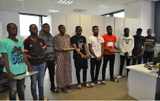 [Pictures]: EFCC Arrests 25 LAUTECH Students for Internet Fraud