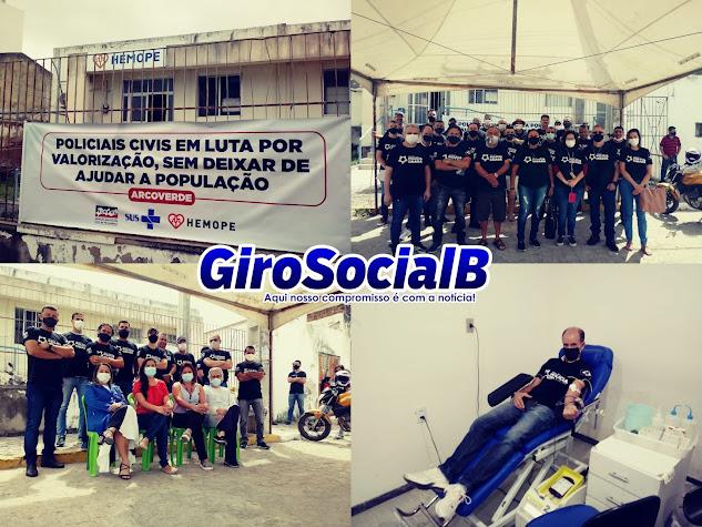 Polícia Civil inicia campanha salarial com doação de sangue ao Hemope em Arcoverde