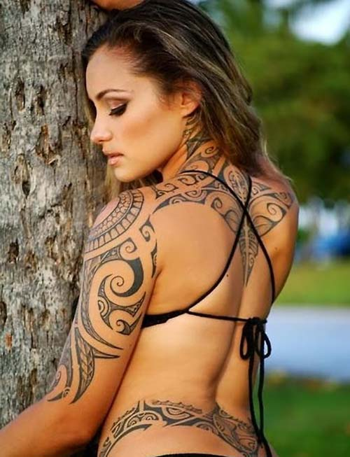 kadın tribal dövmeler woman tribal tattoos 33