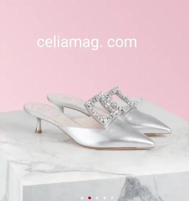 Nouvelle Collection  de chaussure femme du Broche Vivier Strass Mules 2020