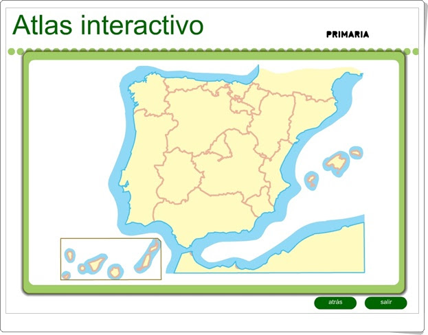 Atlas interactivo de España de Primaria (Editorial S.M.)