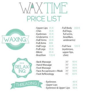 Harga Waxing di Salon Waxtime Review