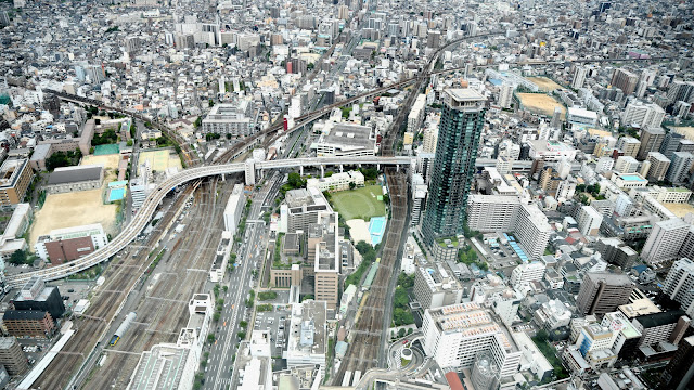 아베노 하루카스 전망대에서 본 오사카
