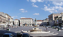The attractive Piazza del Duomo is one of the main squares in L'Aquila