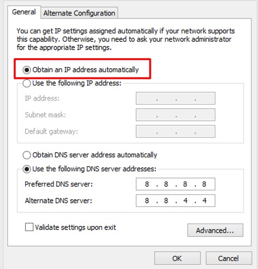 Setting IP Address Otomatis