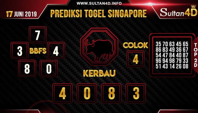 PREDIKSI TOGEL SINGAPORE SULTAN4D 17 JUNI 2019
