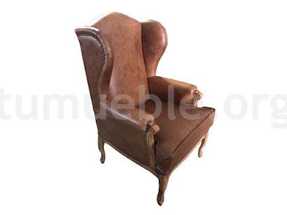 sillón piel bergamo