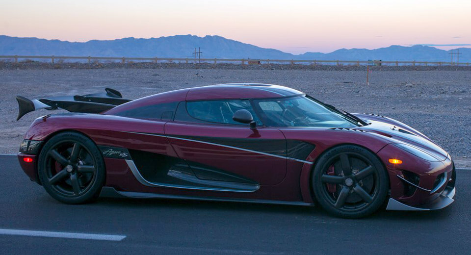 The Koenigsegg Agera RS hit 284 miles per hour