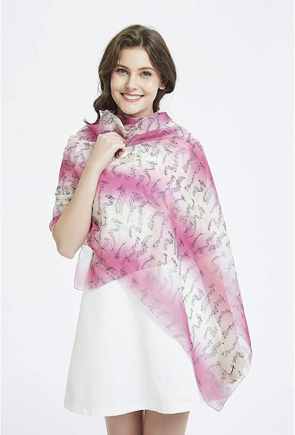 Best Sheer Soft Pink Chiffon Scarves Shawls