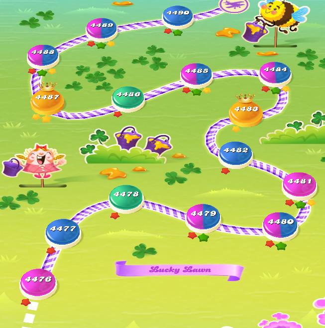 Candy Crush Saga level 4476-4490