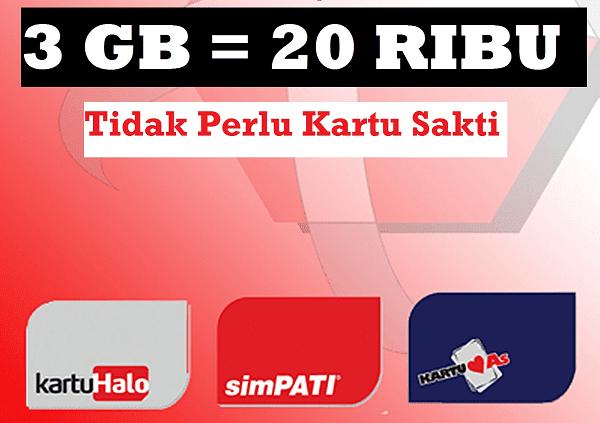 Paket Internet Murah Telkomsel 3GB Hanya Rp.20.000 Terbaru