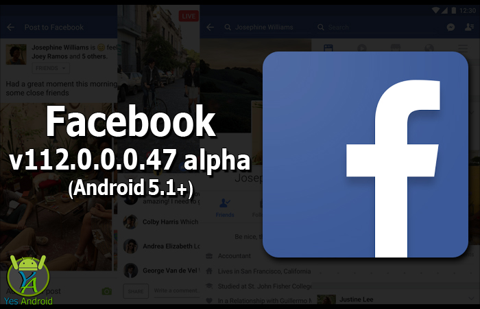 """Facebook 112.0.0.0.47 alpha (Android 5.1+) is the latest version of Facebook App from Facebook Wikipedia. Facebook is No.1 of most popular social networks around the world. With FB app you can do the following and more: Keeping up with friends is faster than ever. See what friends are up to, """"Share updates, photos and videos"""", Get notified when friends like and comment on your posts, Play games and use your favorite apps."""