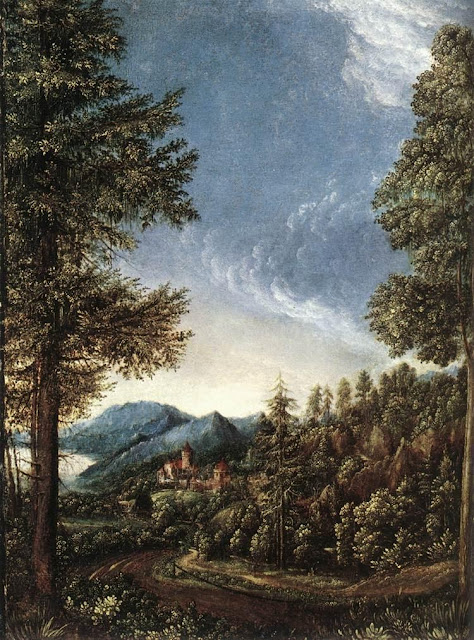 Albrect Altdorfer - Donaulandschaft bei Regensburg - 1520-25