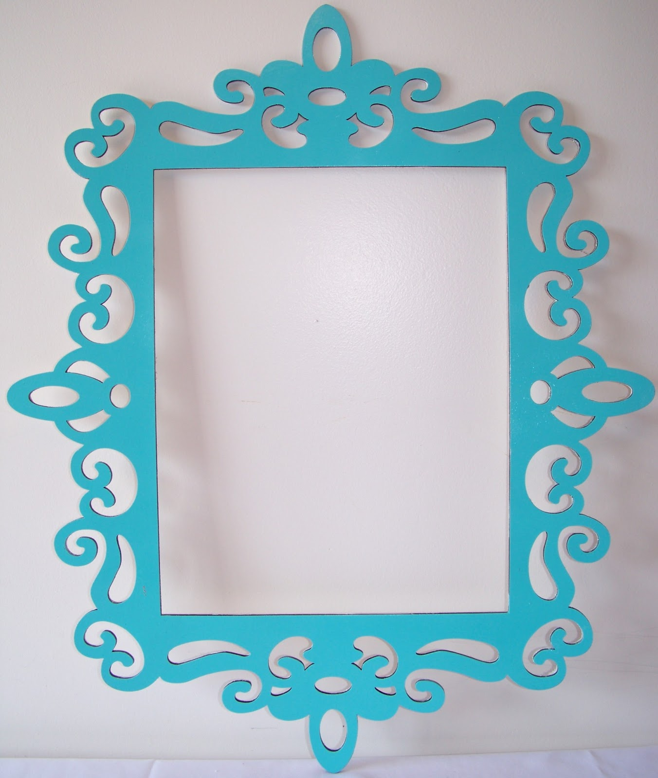 Large Shiny Tiffany Blue Decorative Frame