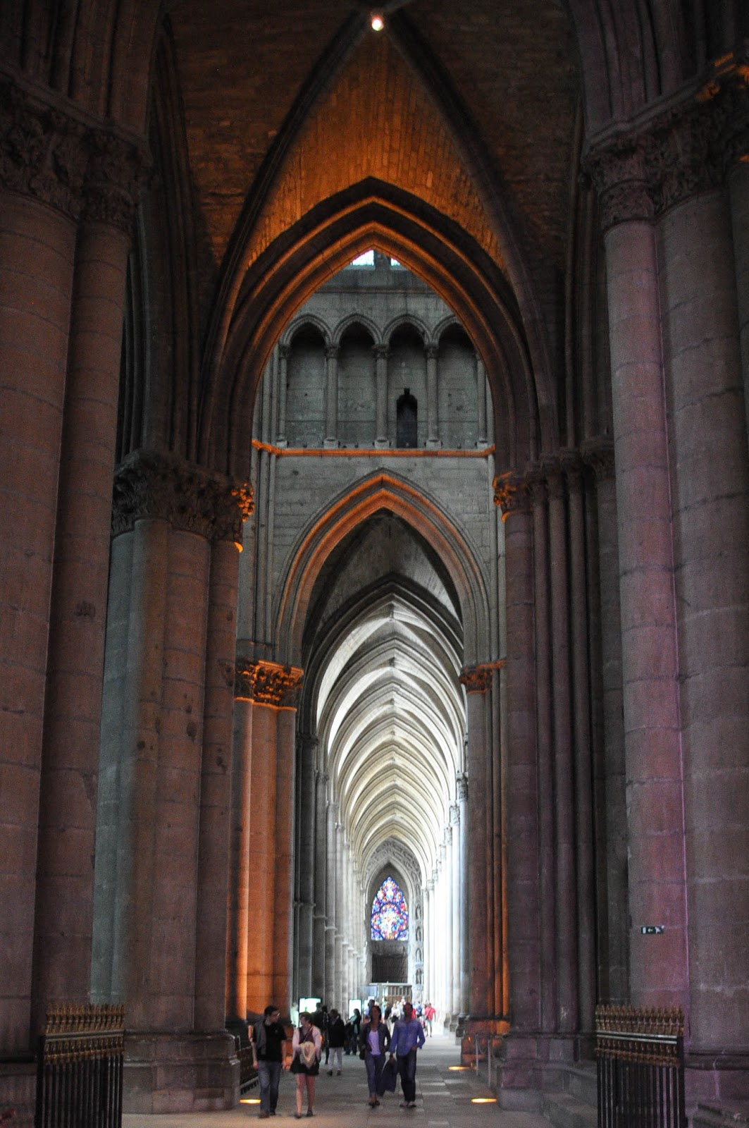 Inside Reims Cathedral, Reims, France