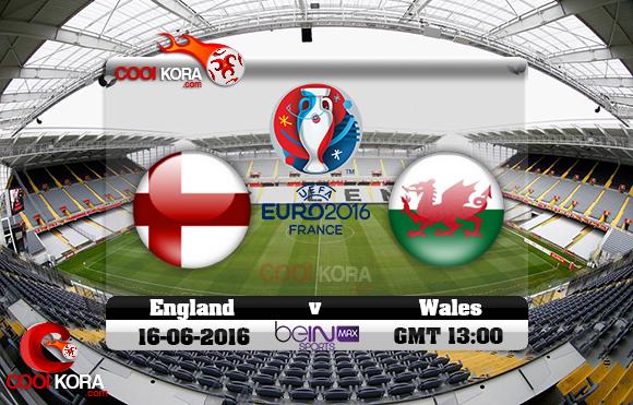 مشاهدة مباراة إنجلترا وويلز اليوم 16-6-2016 بي أن ماكس يورو 2016