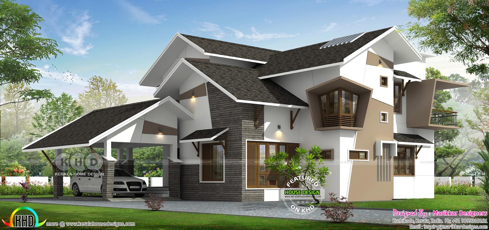 1925 square feet 3 bedroom ultra modern home - Kerala home ...