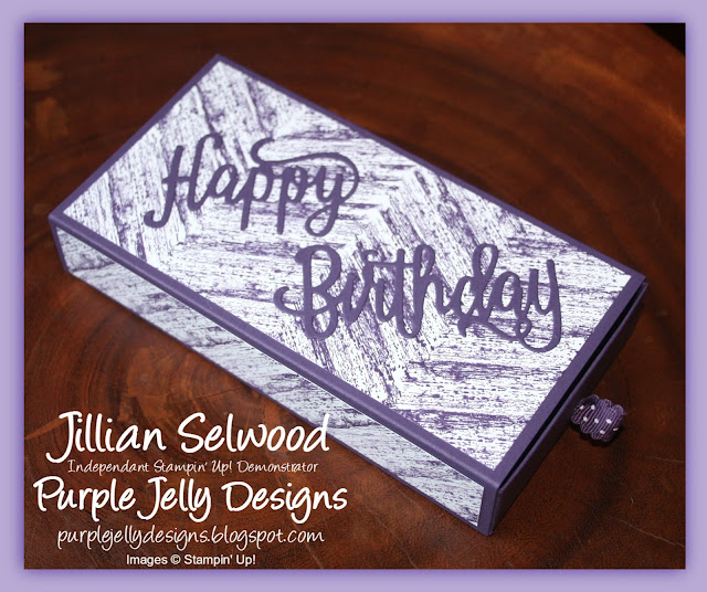 Happy Birthday thinlit die, Poppin' Cube box card