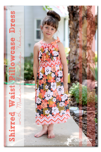 Shirred Waist Pillowcase Dress How-to Tutorial