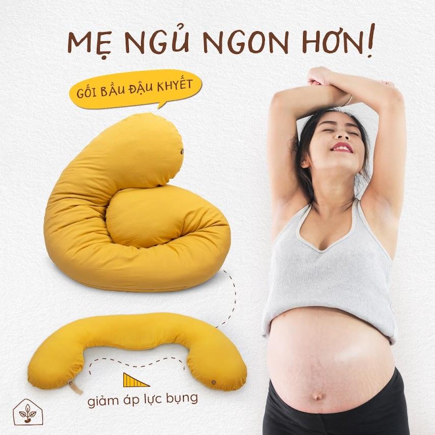 [A159] Tiết kiệm với gối bầu đa năng cho cả mẹ và bé - Gối bầu đậu khuyết