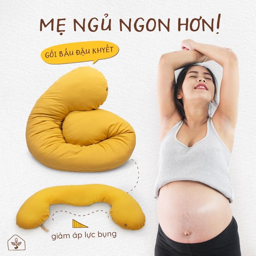 [A159] Gối Đậu Khuyết cho Mẹ Bầu một giấc ngủ ngon hơn, sâu hơn