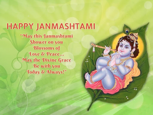 Best Krishna janamshtami status shayari quotes image picture photos