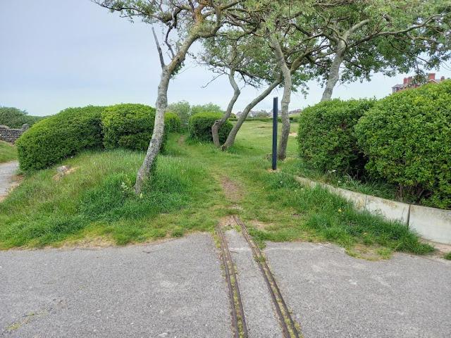 Old miniature railway track at Marine Gardens in Fleetwood
