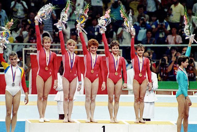 Equipe da União Soviética (URSS) de ginástica artística nos Jogos Olímpicos de Seul 1988