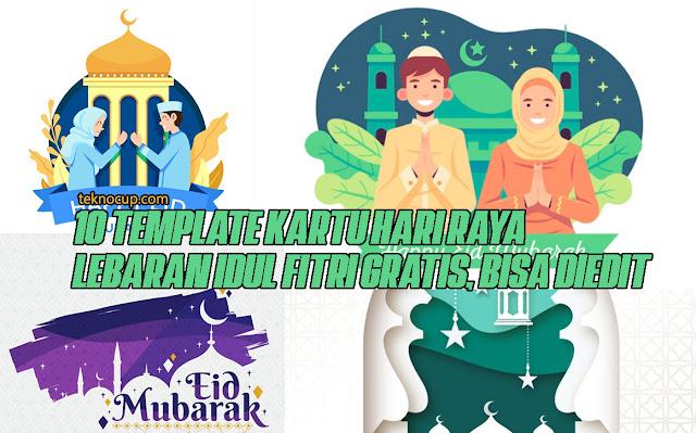 10 Template Kartu Ucapan Hari Raya Lebaran Idul Fitri Gratis, Bisa diedit