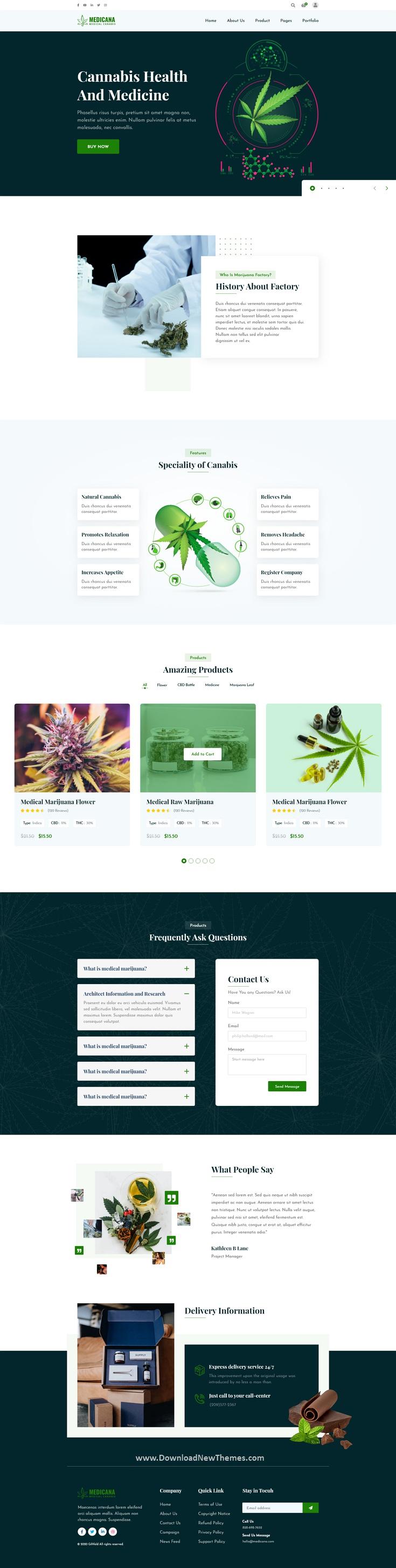 Medical Cannabis Website Template